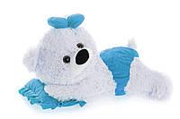 Алина плюшевая мишка малышка 45 см белый с голубым, фото 1