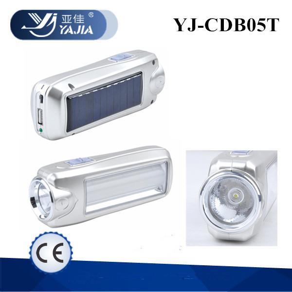 Фонарик YJ CDB05T солнечная панель + зарядка мобильного телефона