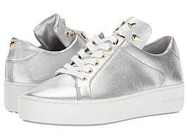 Кроссовки/Кеды (Оригинал) MICHAEL Michael Kors Mindy Lace-Up Silver Pebble Metallic/Heart Studs