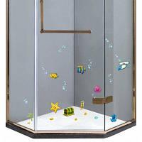 Съемный S005 Ванная Комната Душ Стеклянные Двери Стикер Цветной