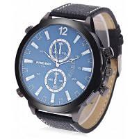 SHIWEIBAO J1181 Кварцевые часы для мужчин Синий
