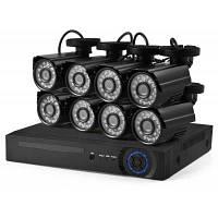 D1608N-8XC102L1 720P AHD DVR комплект видеонаблюдения Чёрный