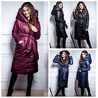 Женское дутое пальто с капюшоном 0061 ИО Норма, фото 1