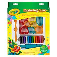 Пластилин Crayola с формочками и инструментом, 12 цветов