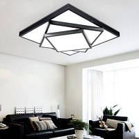 Сид 18W 1500lm светодиодный простой квадратной формы Потолочный светильник 220В Чёрный