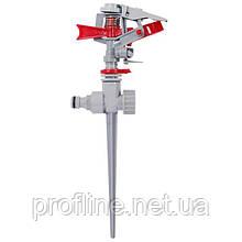 Дождеватель пульсирующий с полной или частичной зоной полива на костыле, круг/сектор полива до 12м Brass, Zinc alloy INTERTOOL GE-0053