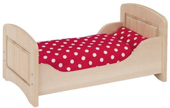 Ліжечко для ляльок (натуральна) з натурального дерева Goki 51701G