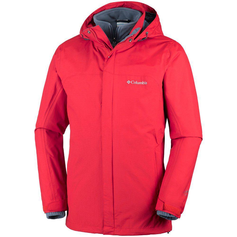 Оригинальная мужская куртка 3в1 COLUMBIA MISSION AIR INTERCHANGE JACKET  MOUNTAIN RED e21af76ee9329