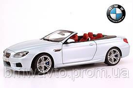 Модель автомобиля BMW M6 Convertible (F12 M) Silverstone II, Scale 1:18