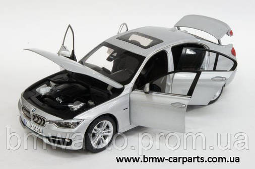 Модель автомобиля BMW 3 Series Saloon Glacier Silver, Scale 1:18, фото 2