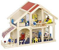 Кукольный домик 2 этажа с внутренним двориком из натурального дерева Goki 51893G