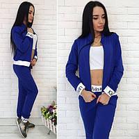 """Спортивный женский костюм тройка лого """"Calvin Klein"""", топ, кофта и штаны"""