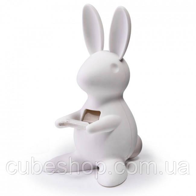Диспенсер для скотча Desk Bunny Qualy (белый)
