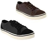 Кеды мужские кожаные сникерсы Кроксы Ховер оригинал / Crocs Men's Hover Lace-Up Leather Sneaker