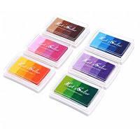 6шт Штемпельная подушка для печати постепенный цвет для использования в офисе Цветной