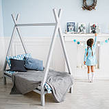 Домик кровать детский Вигвам из массива дерева, фото 4