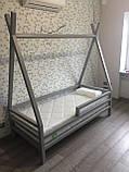 Домик кровать детский Вигвам из массива дерева, фото 6
