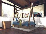 Домик кровать детский Вигвам из массива дерева, фото 7