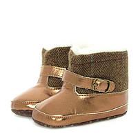 Зимние пинетки-сапожки для девочки с подкладкой из искусственного меха (обувь на первый шаг, размеры 11,5 см) ТМ Berni