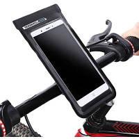 Roswheel 111362 водонепроницаемый чехол для мобильного телефона на велосипедный руль Чёрный