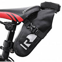 Roswheel 111363 ПВХ водонепроницаемая велосипедная сумка для седла Чёрный