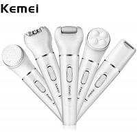 Kemei KM-2199 5 в 1 эпилятор для волос для женщин набор инструментов женская бритва Европейская вилка