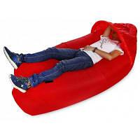 Портативная надувная диван-кровать с солнцезащитным козырьком c загрузкой 300 кг Красный