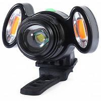 Водонепроницаемая передняя LED фара для велосипеда с T6 лампой и USB Чёрный