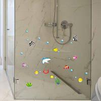 S004 Нагрузки Съемный Ванная Комната Душ Стеклянные Двери Стикер Цветной