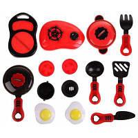 Красный Моделирование кухня посуда игрушки 12шт 61481
