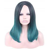 Женщины Волос Парики Харадзюку Черный Смешанный Зеленый Ломбер Косплей 30*18*5см
