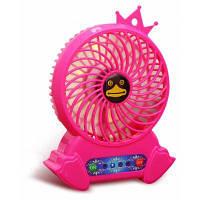 Портативный электрический вентилятор с низким уровнем шума с узором пингвина мелкая бытовая техника Розовый