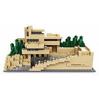 Loz мини дом над водопадом игрушка кирпич Красочный