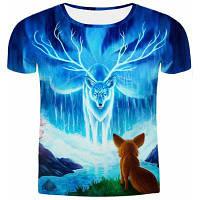 Горячие продажи Круглый шеи 3D животных печати для похудения Короткие рукава футболки для мужчин XL