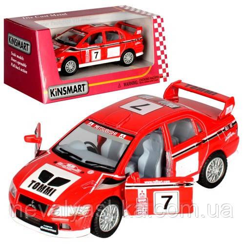 Kinsmart металлическая инерционная машинка Mitsubishi Lancer Evolution VII Кинсмарт KT5048W 002016