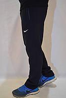 Утепленные мужские спортивные штаны Nike (найк) / брюки трикотаж - темно-синие