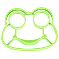 Силиконовая форма для яичницы в форме смешной лягушки Зелёный
