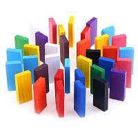 100шт дети яркие цветные акробатика Домино деревянные игрушки Цветной