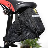 B-SOUL YA0208 1.5Л/1.8Л расширяемая сумка для седла велосипеда Чёрный
