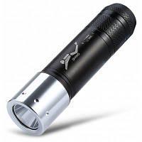 T02 CREE XML-L2 1000Лм подводный светодиодный фонарик для активного отдыха черный + серебристый