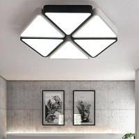 48w Сид СИД 4300LM Геометрическая форма потолочного освещения 220В черный+белый