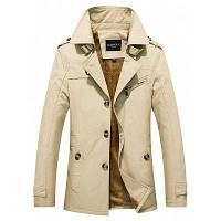 Мужской пиджак однотонный с отложным воротником 4XL