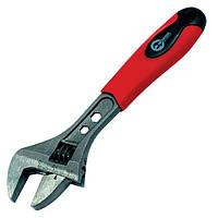 Ключ разводной обрезиненная рукоятка 0-30 мм INTERTOOL HT-0196