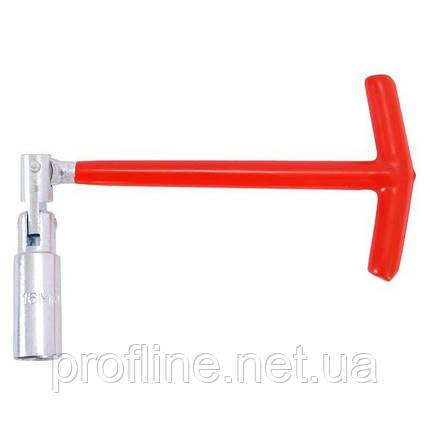 Ключ свечной  Т-образный с шарниром 21х250 мм INTERTOOL HT-1722, фото 2