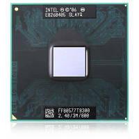 Оригинальные серии Intel T8300 2.4GHz двухъядерный процессора PGA478 Золотой