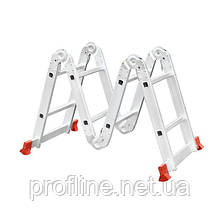 Лестница алюминиевая мультифункциональная трансформер 4x2 ступ. 2,50 м INTERTOOL LT-0028