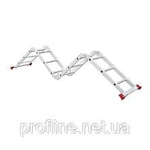 Лестница алюминиевая мультифункциональная трансформер 4x3 ступ., 3,70 м INTERTOOL LT-0030