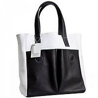 Великолепная женская сумка двух цветов с натуральной кожи  BagTop арт. BTJS-2-7
