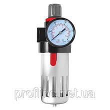 """Фильтр очистки воздуха + редуктор в металле 1/2"""" INTERTOOL PT-1410"""