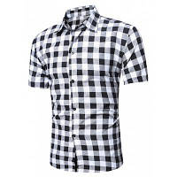 С Коротким Рукавом Клетчатой Рубашке Белье L